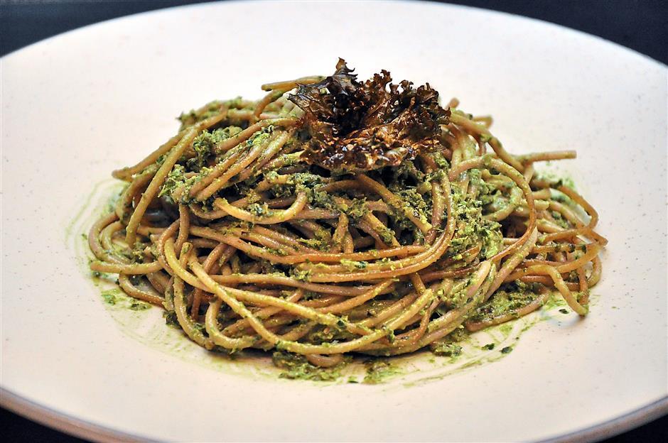 Kale Pesto Spaghettini