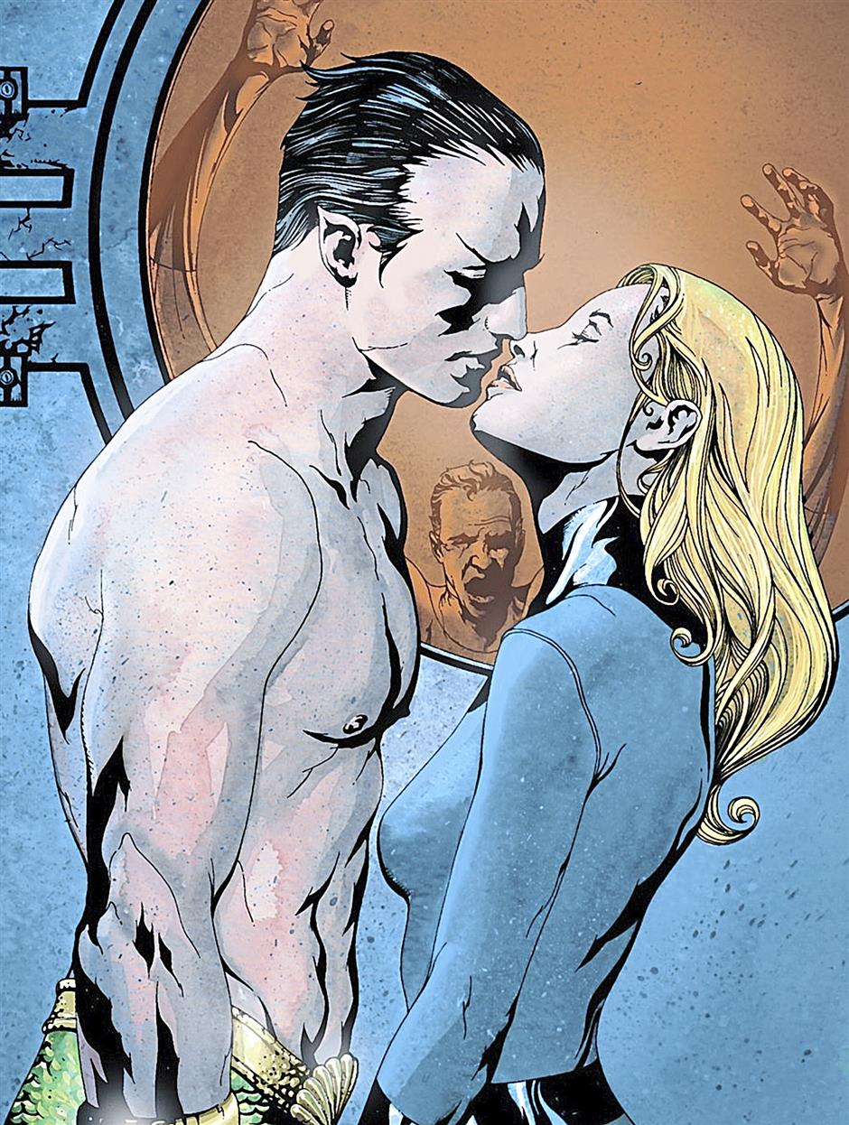 Despite being consistently thwarted by Reed Richards, Namor continues to harbour hopes of winning Sue Storm's hand.