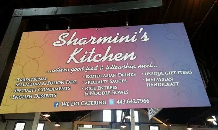 Sharmini's Kitchen signboard.