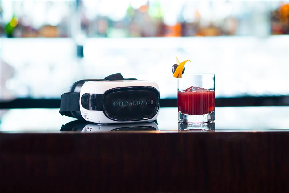 One Aldwych, a luxury hotel in London says its drink, The Origin, was the first VR cocktail. It debuted in April 2017. (One Aldwych)