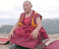 Venerated: The late Khensur Rinpoche Lama Lhundrup Rigsel, whose wisdom and experiences touched the lives of many devotees.
