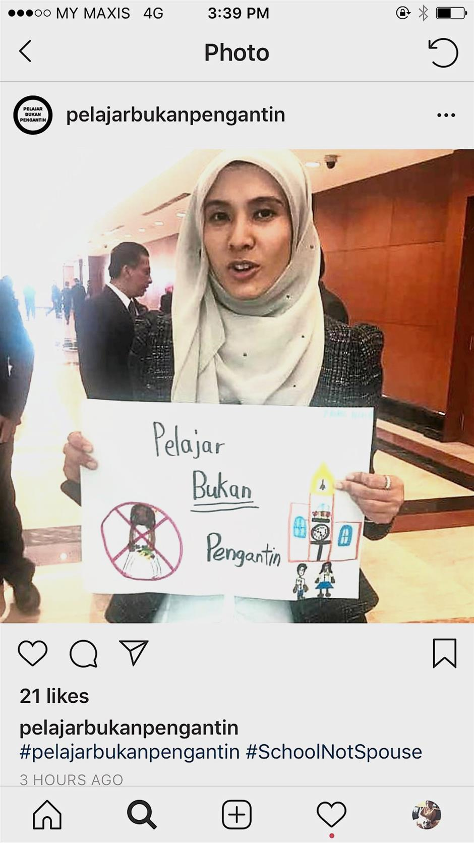 Join us: Nurul Izzah showing her support for the campaign.