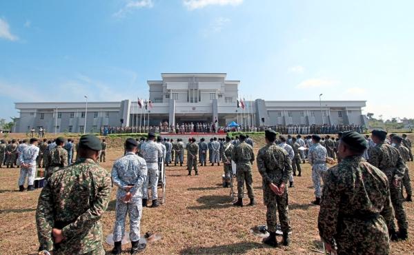 The parade ceremony at the complex. — Photos: Bernama