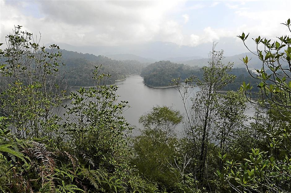 Bukit Tabur in Taman Melawati, Gombak is popular among hikers because of its scenic view overlooking the Klang Gate Dam and the KL skyline.