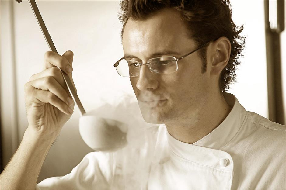 Kevin Cherkas, who brought molecular cuisine to Lafite.