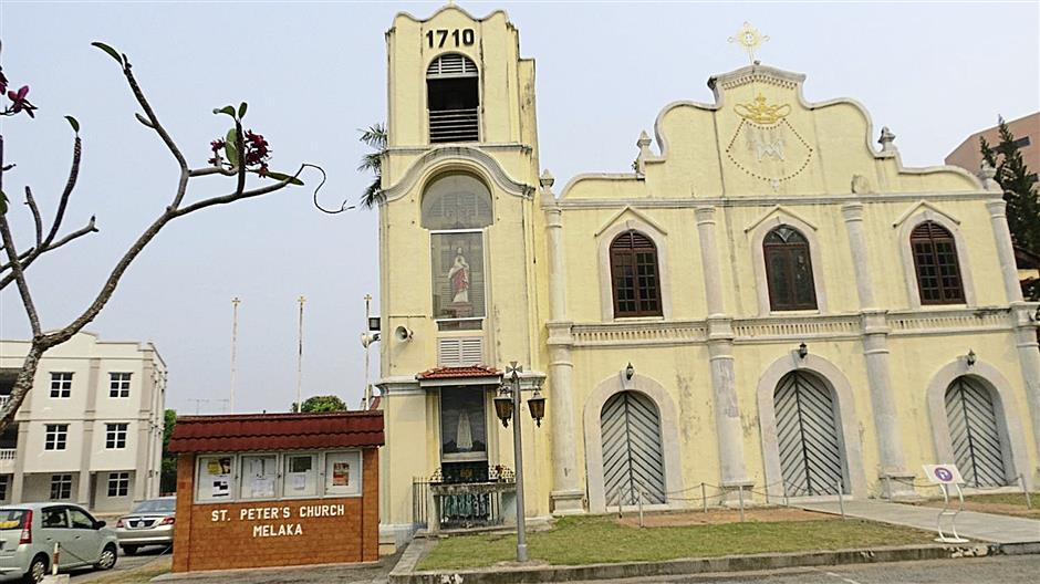 The St Peter's Church, the oldest functioning Catholic Church in Malaysia, is among the rich landmarks of Jalan Bendahara.