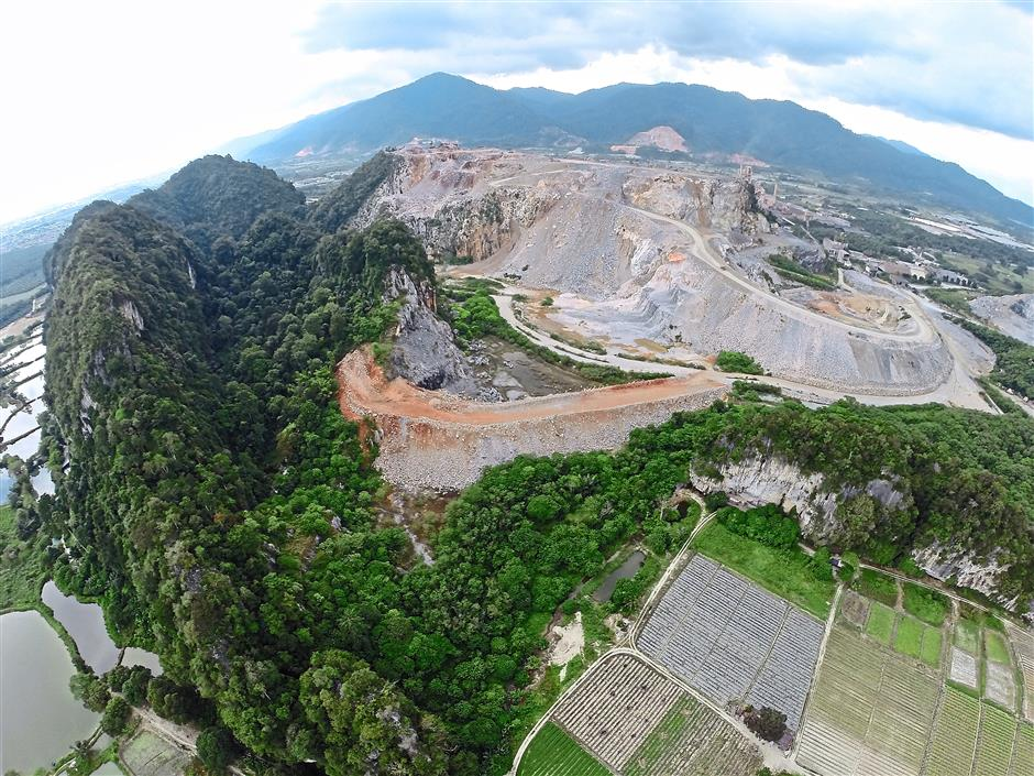 Rife with species: Half of Gunung Kanthan has been quarried by Lafarge Cement; the remaining forested part is rich in endemic and newly-found species. - FRIM