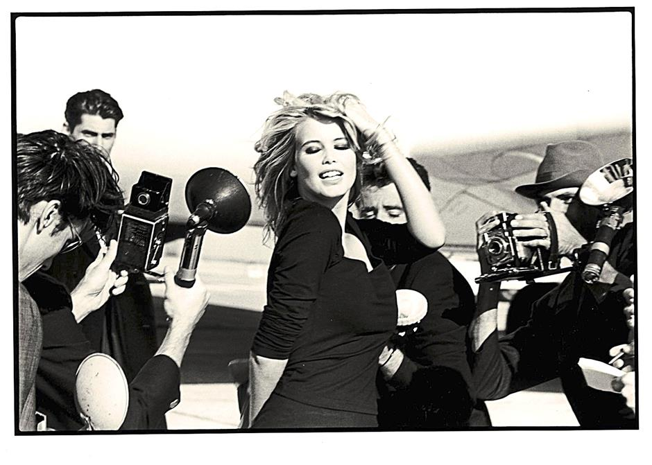 Supermodel Claudia Schiffer's career was launched through the Guess? advertisement campaigns.