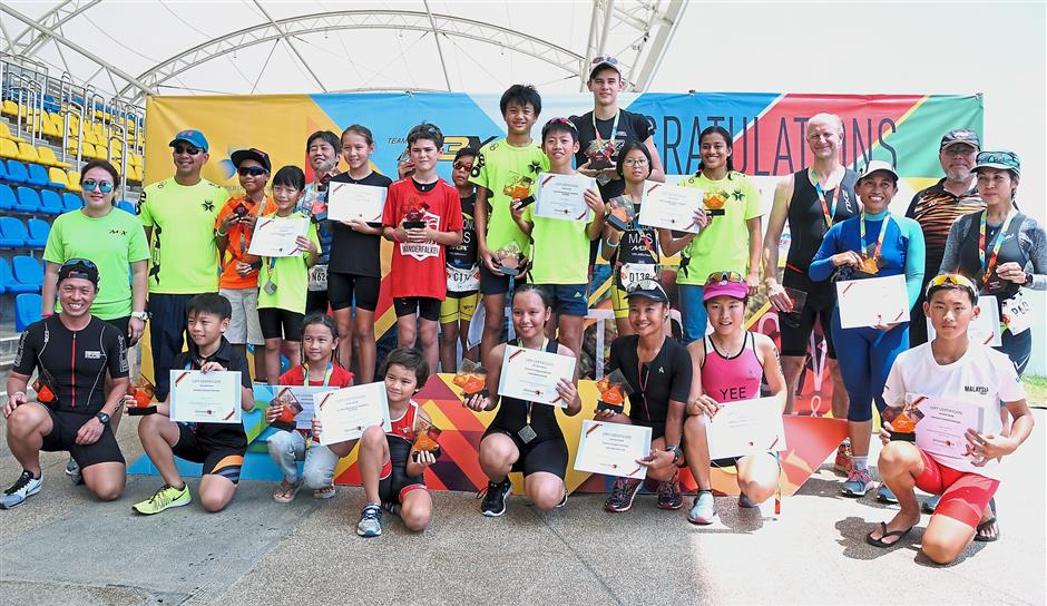 The winners of the 2017 Putrajaya Perdana Triathlon's 16 categories ranged from as young as seven years old to 76 years. — Photos: SYED AZAMUDDEN/The Star