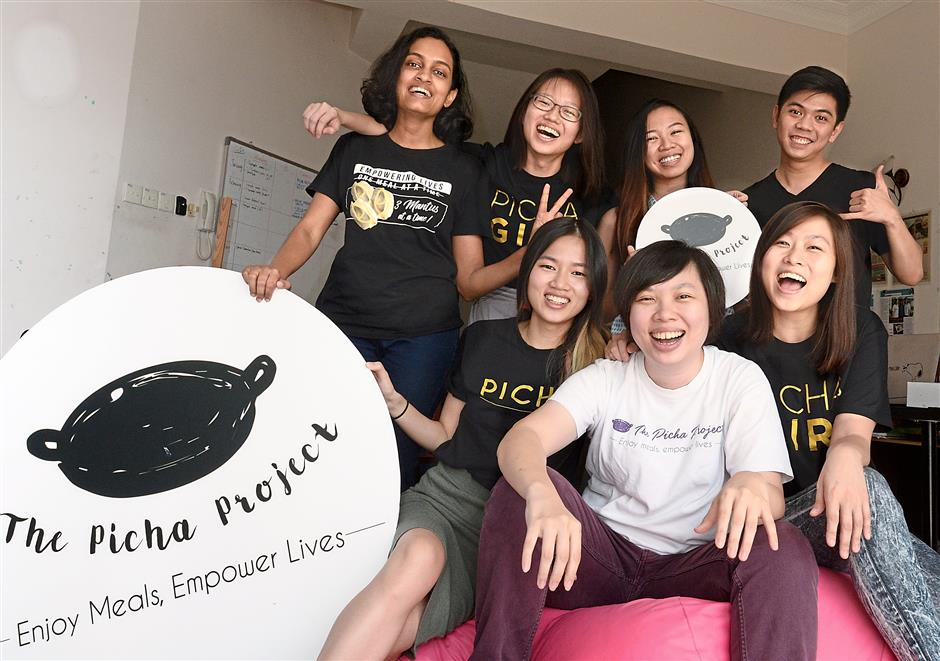 Ling, Lee and Kim and their team at The Picha Project. Ong Soon Hin/The Star