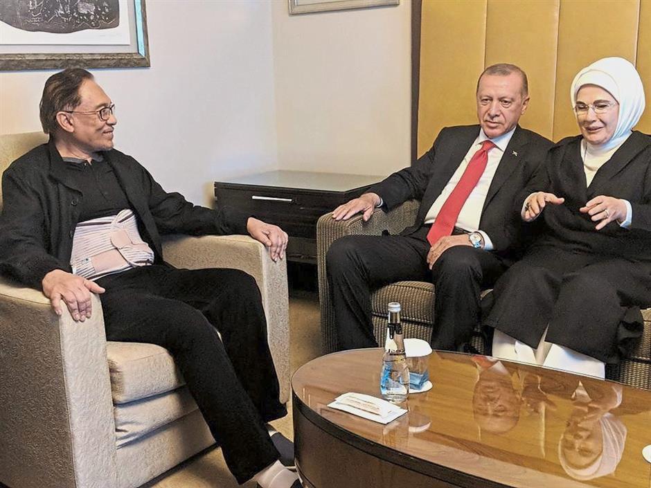 Erdogan visits Anwar in hospital | The Star Online