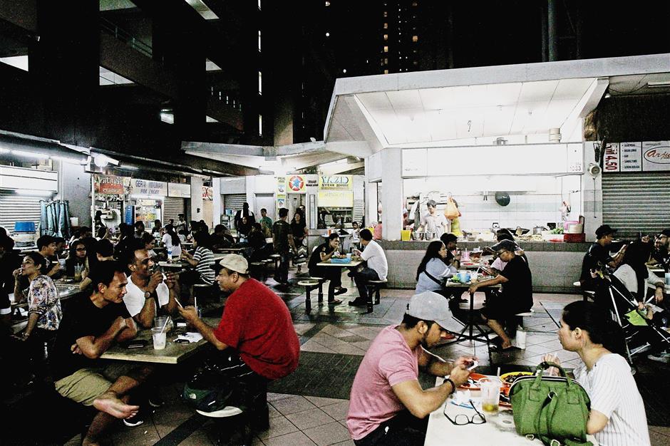 The yong tau foo stall at Lot 1033 in Damansara Uptown.