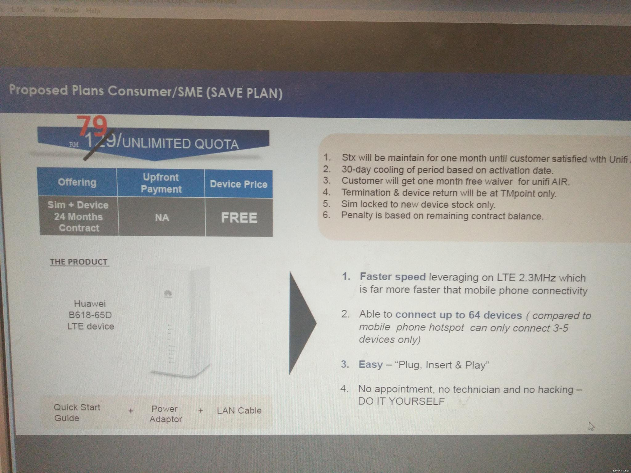 TM to offer Unifi Air with unlimited data at RM79, according to
