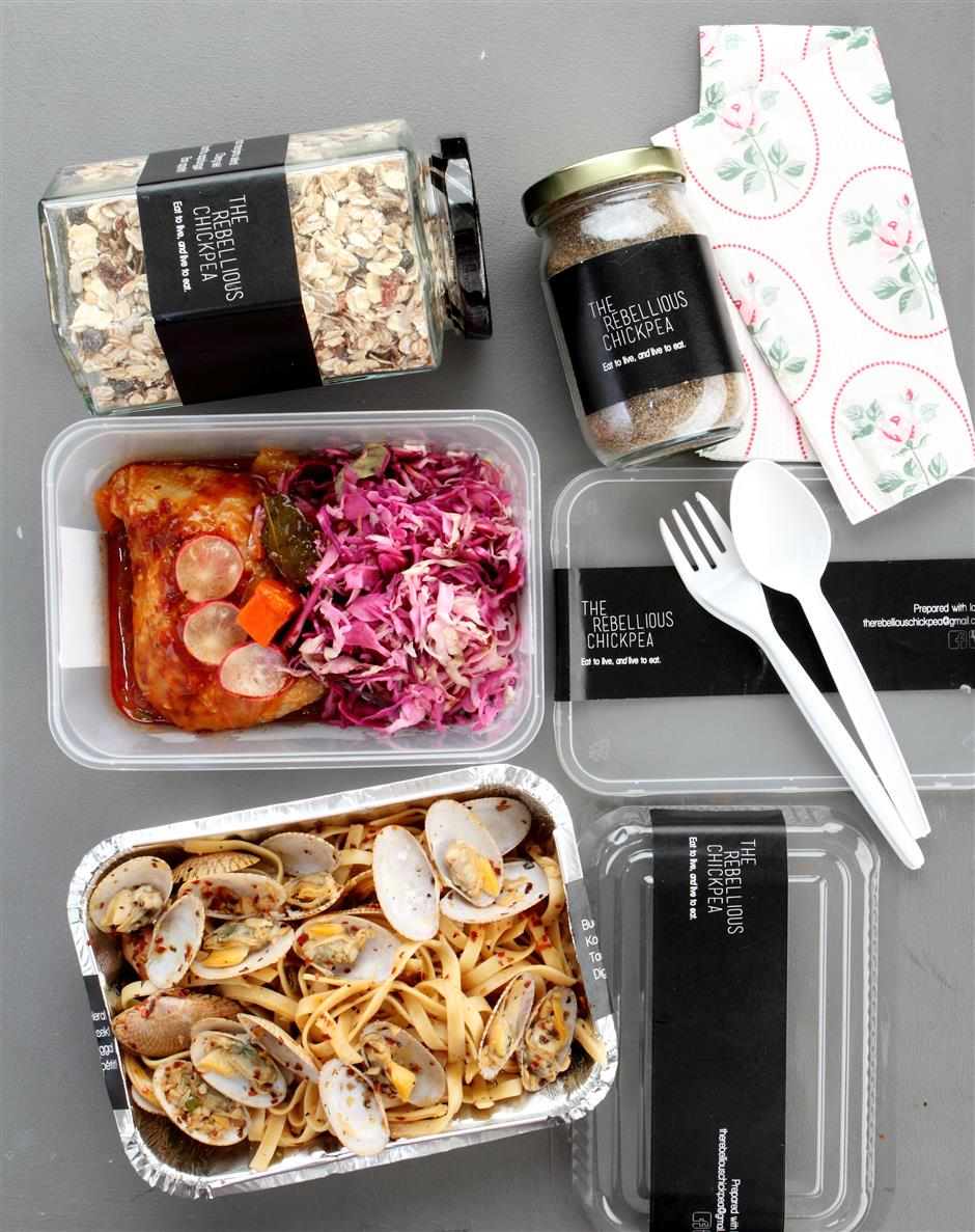 On top of hot meals, the Rebellious Chickpea also serves healthy trail mix and muesli