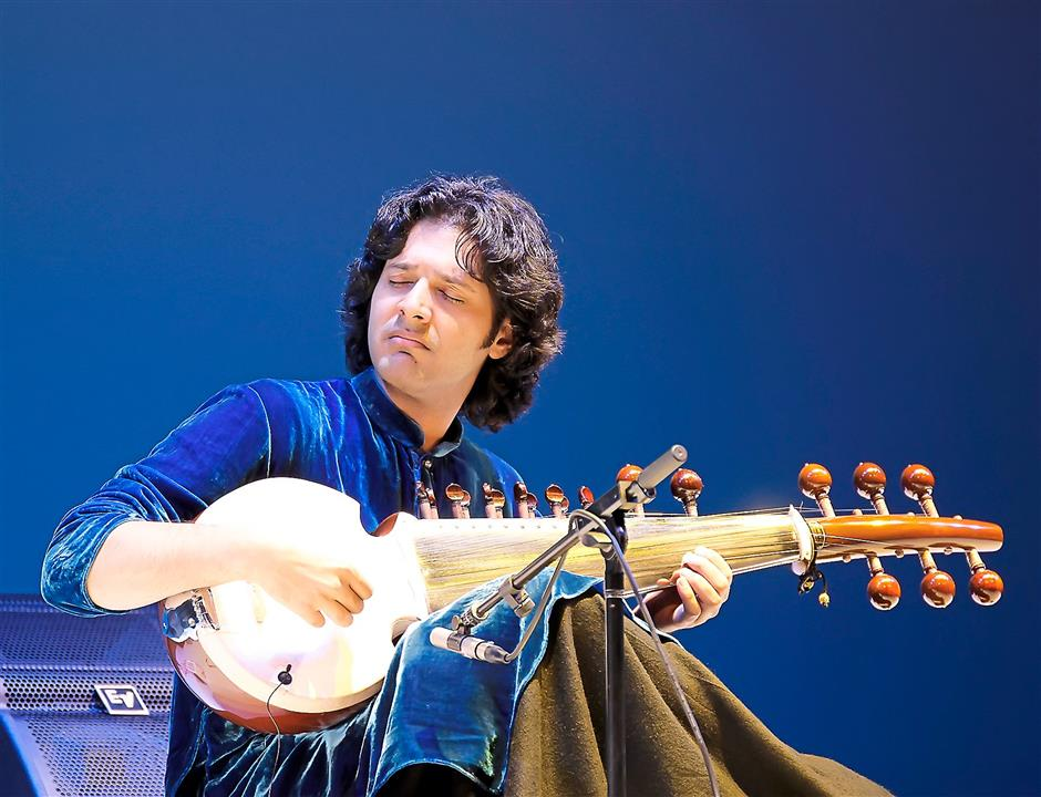 Young and talented: Ayaan delivering each piece with clear devotion and precision