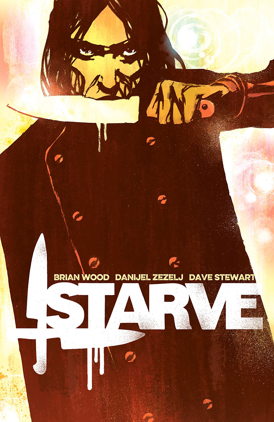 Brian Wood, Danijel Zezelj, and Dave Stewart Starve is set in a future where celebrity chefs are royalty.