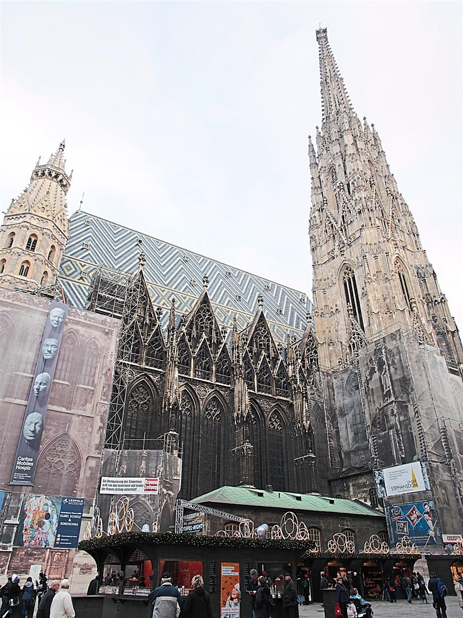 Scenic: St Stephen's Cathedral, also known as Stephandom, is located in Stephansplatz, a distinguished shopping area.
