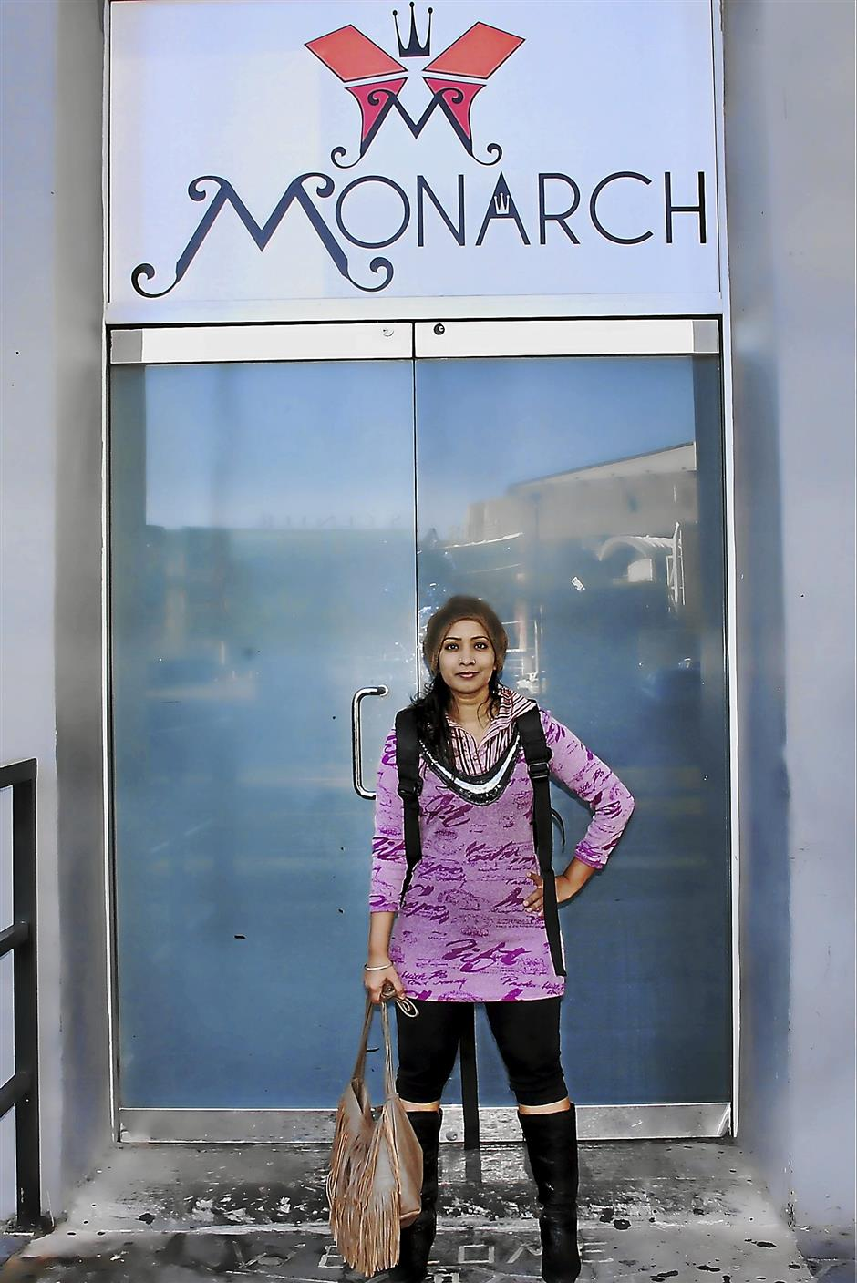 The writer at the Monarch Theatre in Phoenix, Arizona. She is participating at the RAW Artist Showcase today.