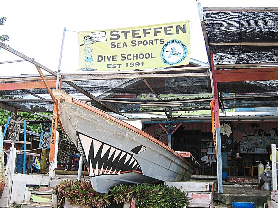 Ng's dive centre in Pulau Weh off Aceh in Sumatra. The centre has three chalets which can accommodate 17 people.