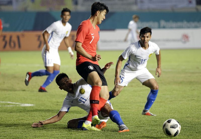 Football Malaysia Stun Defending Champions S Korea With A 2 1 Win In Group E Match The Star