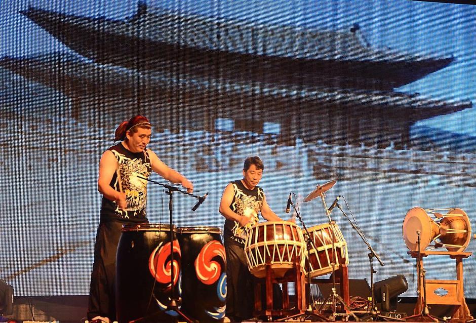 A korean dance percussion.