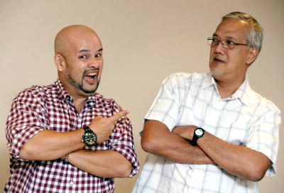 No joke! Harith Iskander and Michael Veerapen are experimenting with a genre called musical comedy.
