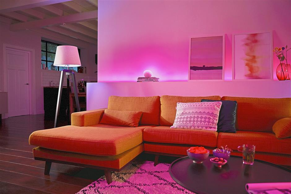 Go pink (or any other warm colours) this Valentine's Day to set the right mood. — Photos: Philips