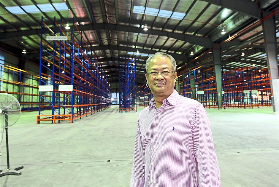 Upping efficiency: Lim says the new warehouse does the job of three other warehouses in Serdang, Selayang and Shah Alam.
