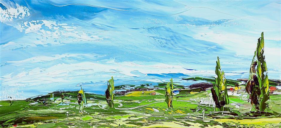 A serene scenery in 'Green Meadow 2'.