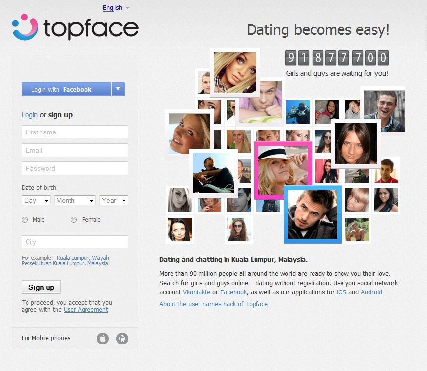 Largest internet dating site