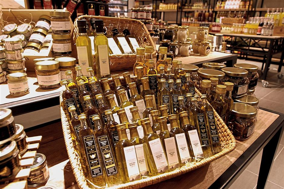 A variety of imported products can be found at Atlas Gourmet Market.