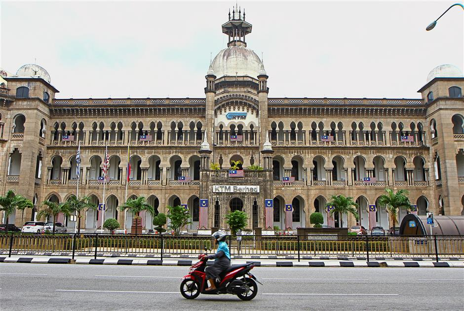 The attractive Moorish influence in the architecture of the KTMB headquarters.