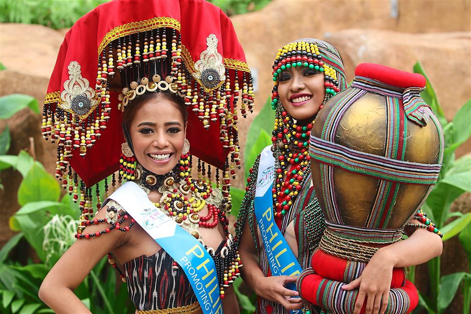 Nation's pride: Miss South East Asia Tourism Ambassadress 2015 Malaysia delegates Shirley Hew (left) and Ong will represent Malaysia as they compete for the crown.