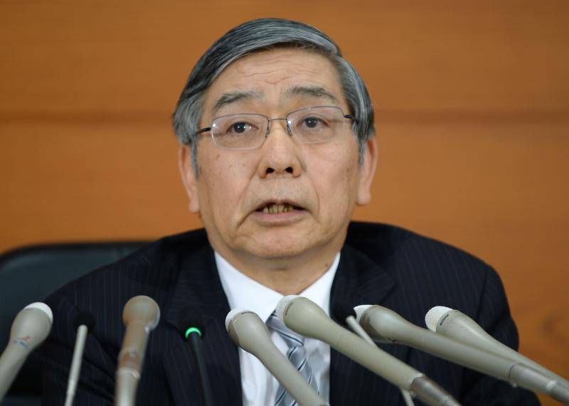 The BoJ maintained its pledge of increasing base money, or cash and deposits at the central bank, at an annual pace of 60-70 trillion yen (US$547-US$638bil) via purchases of government bonds and risky assets, but is non-committal about expanding the stimulus - AFP Photo.