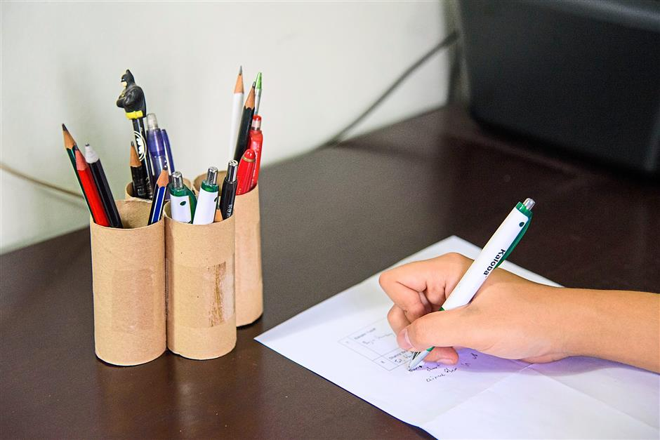 1. Using toilet rolls as stationery holdersPhotos for Top 10 story: 10 nifty uses for everyday items