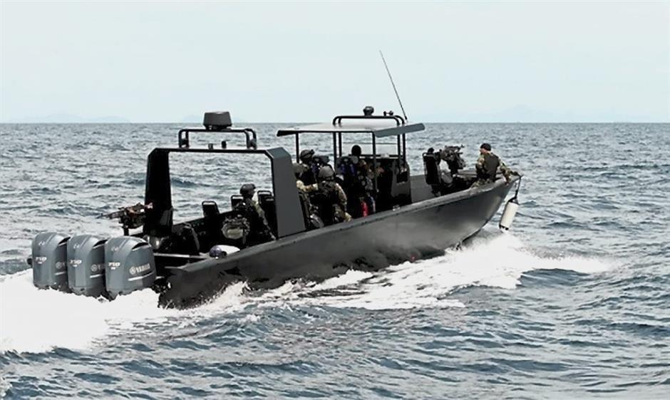 Esscom patrol boats patroling the waters of Sabah. – filepic