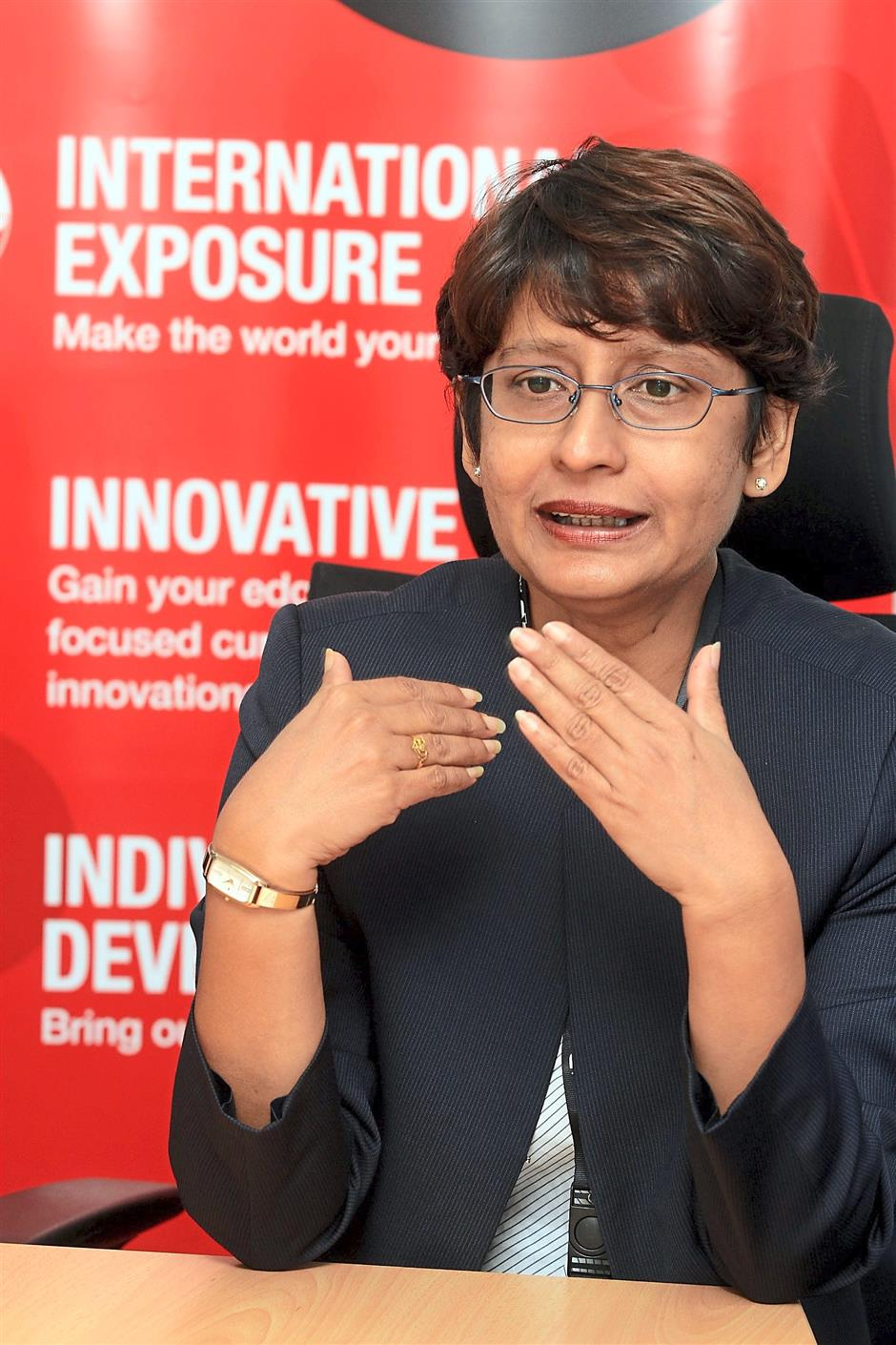 Bring it on: Dr Malini said they would consider using the iCGPA system and was confident that INTI will be able to incorporate it seamlessly.