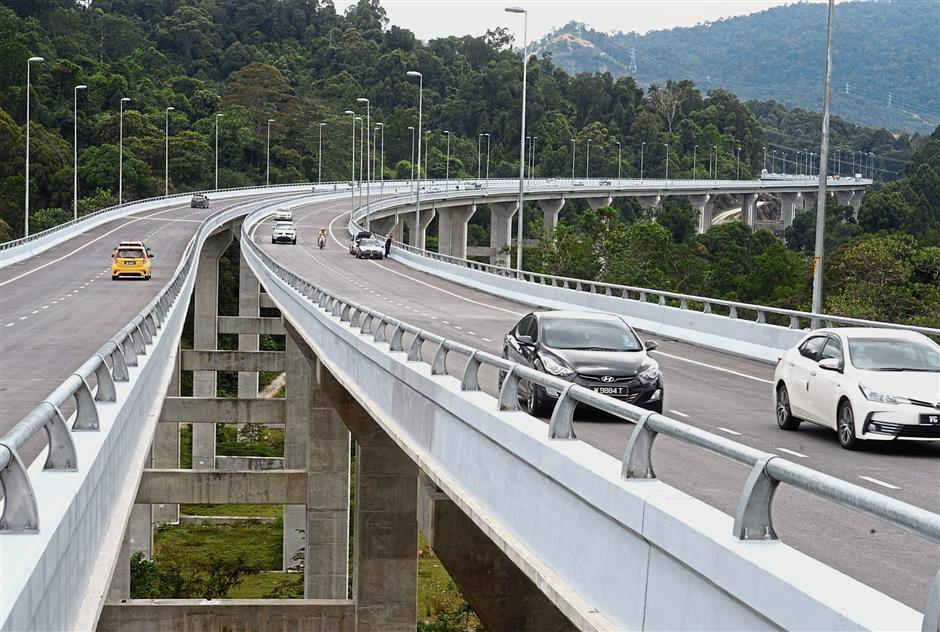 The RM628mil Rawang-Serendah Bypass is a four-lane dual-carriageway, which is expected to ease congestion in Rawang town.