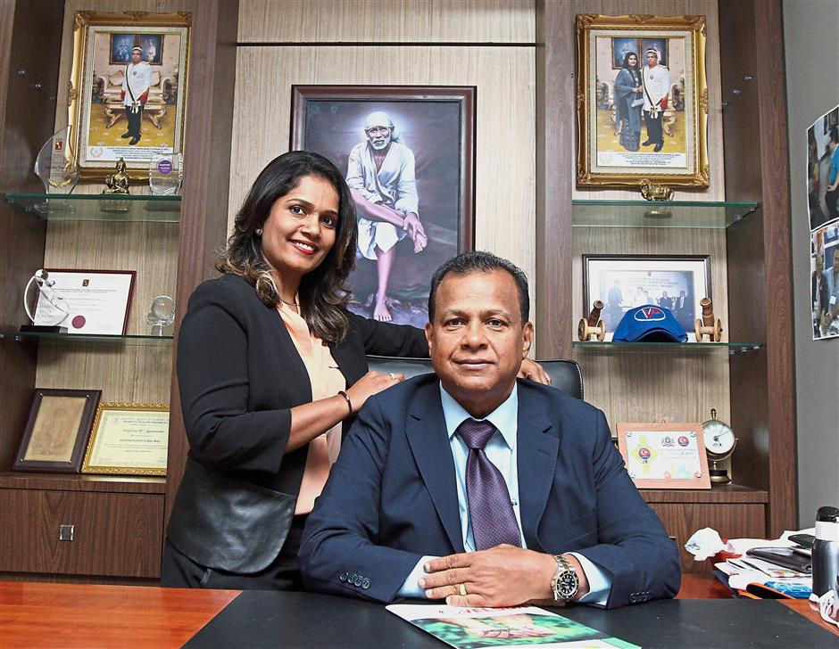 Good team: Vijayasagren is looking to hand over a bigger role of running the company to his wife, Shujahtha.