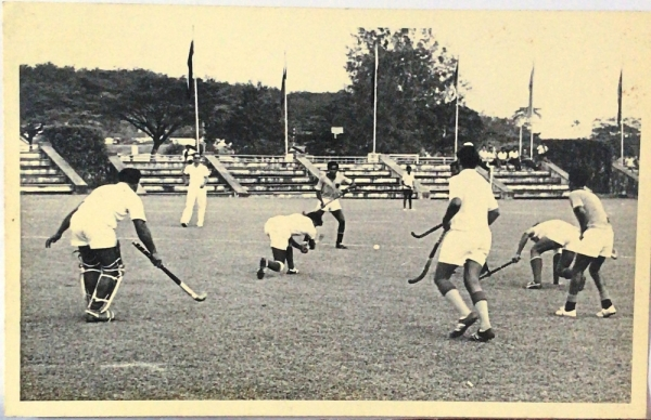 An undated photo from TPCA's archive showing a hockey match being played at the original grounds in Kuala Lumpur.