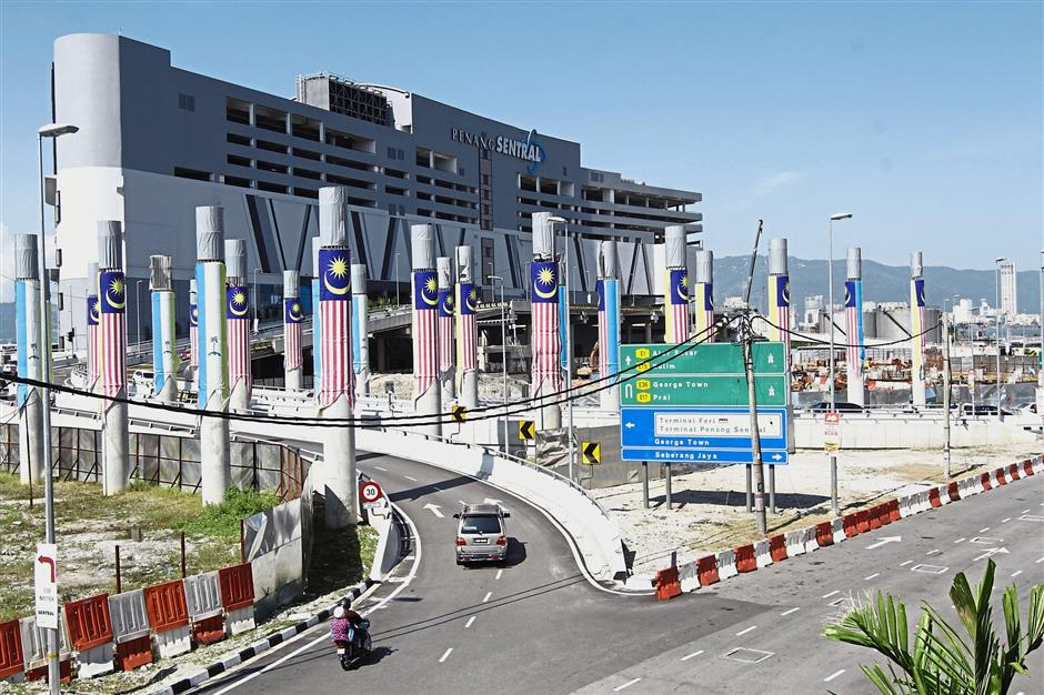 A general view of the entrance to Penang Sentral.