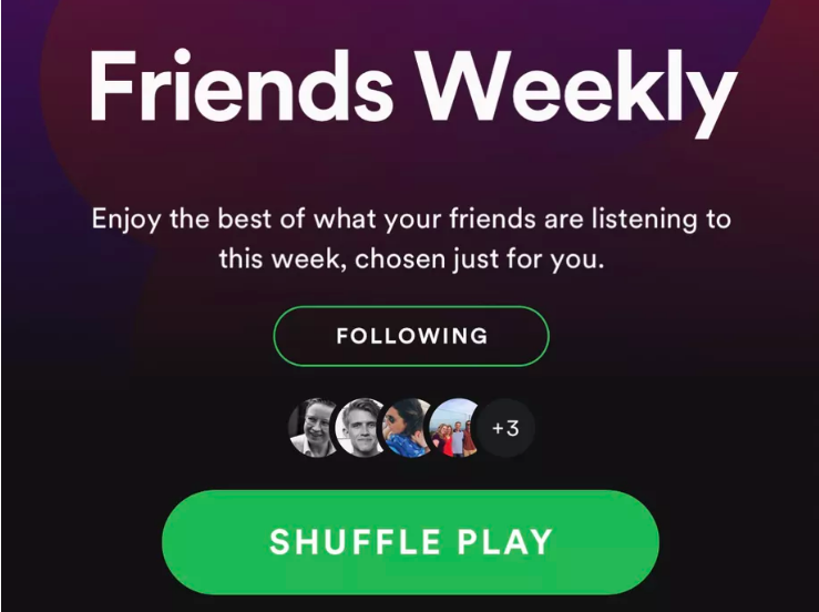 Discover new music with Spotify's latest feature – Friends Weekly