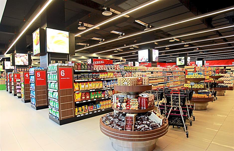 The interior of Sam's Groceria in the Encorp Strand Mall in Petaling Jaya.