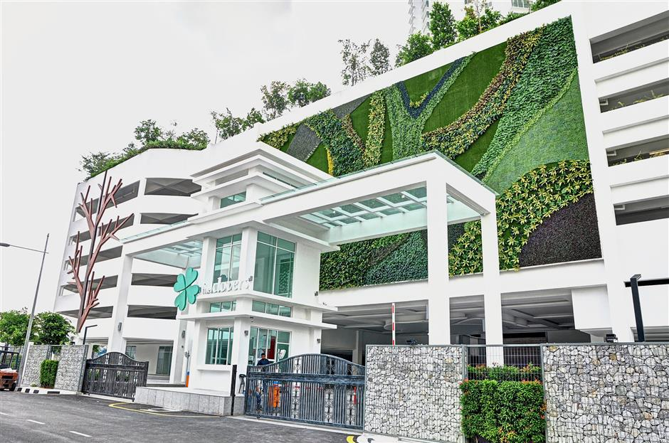 The Clovers signature 'green wall' feature will be a welcome sight for residents to come home to each day. (Oct 2, 2018)