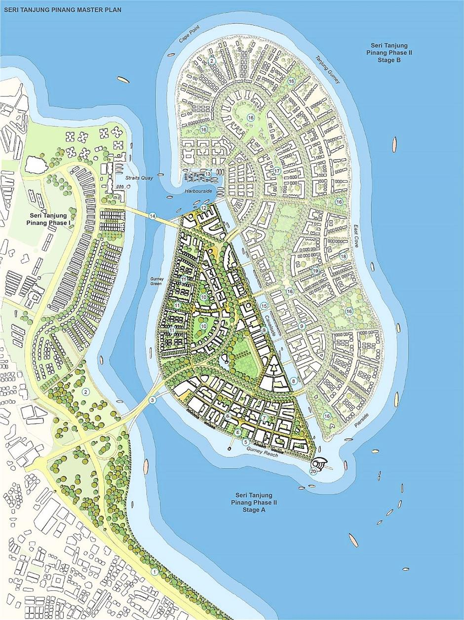 An artist's rendering of the STP2 project, which is expected to stretch over 15 to 20 years comprising mixed development of residential and commercial components.
