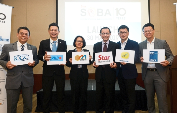 Lending support:  (From left) Wong, Yip, Aureen, Fu, Teh and Tio at the launch of SOBA 2019.