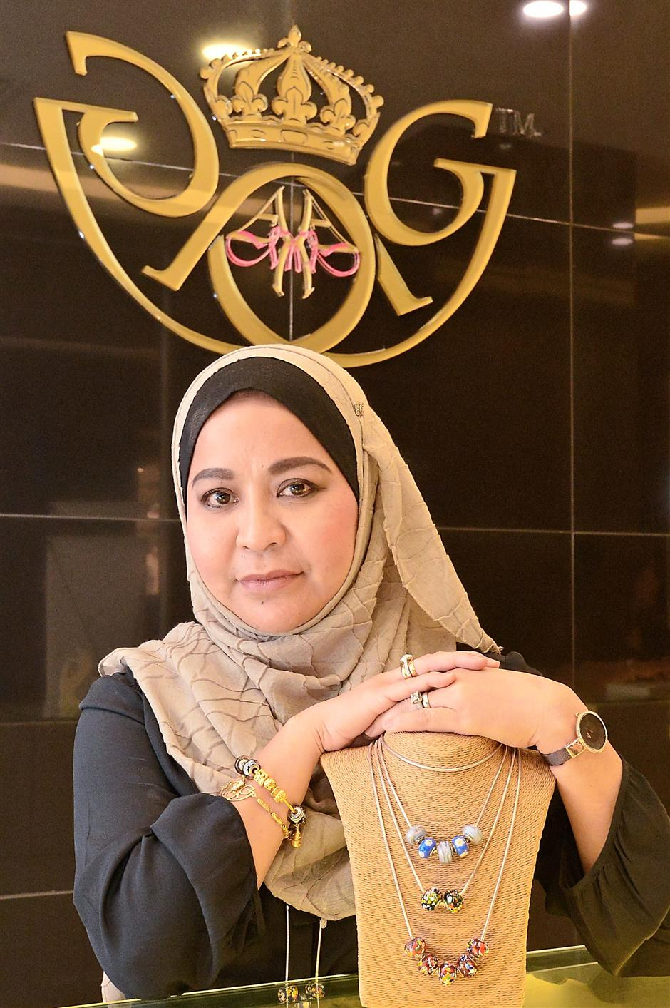1 Some of the necklaces offered by Hawa Ghazzali Collections.2 You can find a Hawa Ghazali Collections outlet at Sunway Putra Mall, Kuala Lumpur.– Photos: ONG SOON HIN/The Star