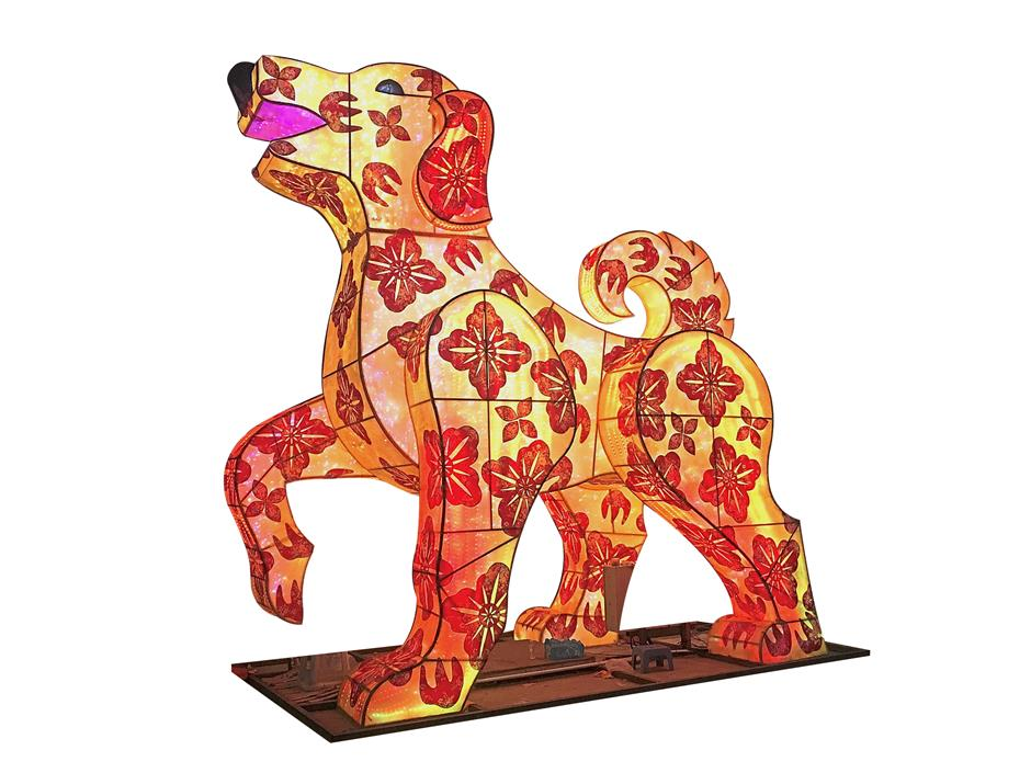 The main lantern of this year's festival at FGS Dong Zen Temple is a 9m-tall rotating dog.— Photo courtesy of Dong Zen Temple