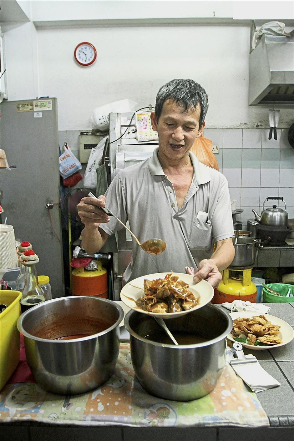Phang has been operating the stall from around 20 years.