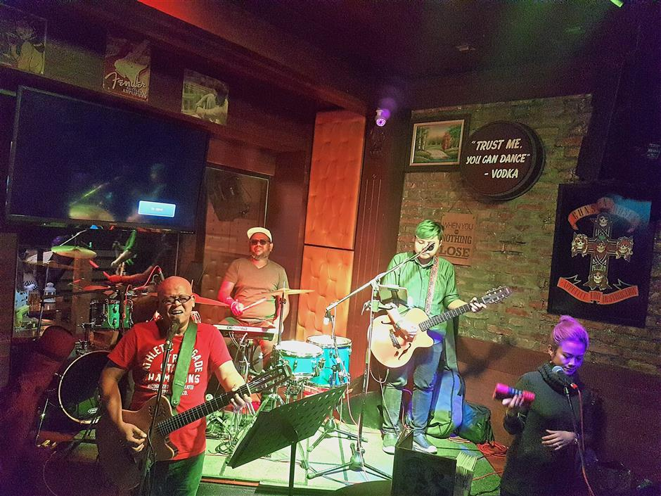 Groove to the sounds of Karma as they rock to the beat in Rock Bottom Changkat.